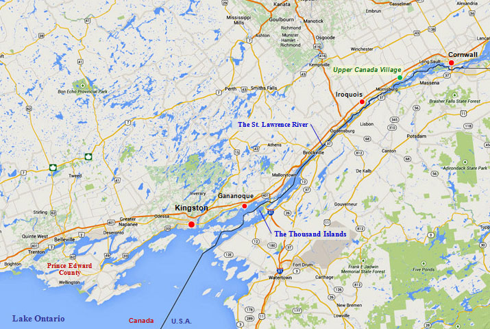 Kawartha Cruise map