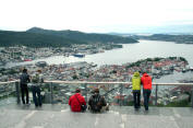 Overlooking Bergen Harbour