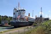 Trito Navigator entering Welland Canal Lock 1