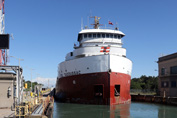 CSL Tadoussac, raised in Welland Canal Lock 1